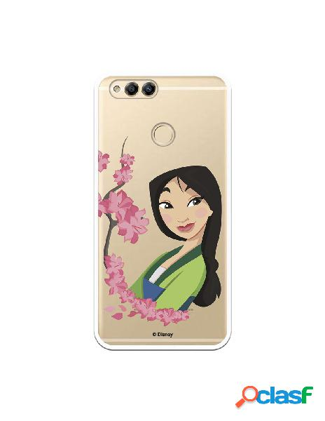 Funda para Huawei Honor 7X Oficial de Disney Mulan Amapolas