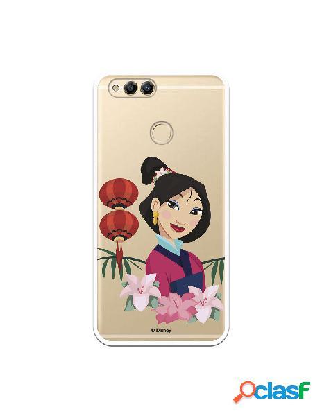 Funda para Huawei Honor 7X Oficial de Disney Mulan Rostro -