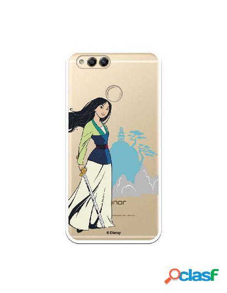 Funda para Huawei Honor 7X Oficial de Disney Mulan Templo -