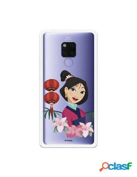 Funda para Huawei Mate 20 X Oficial de Disney Mulan Rostro -