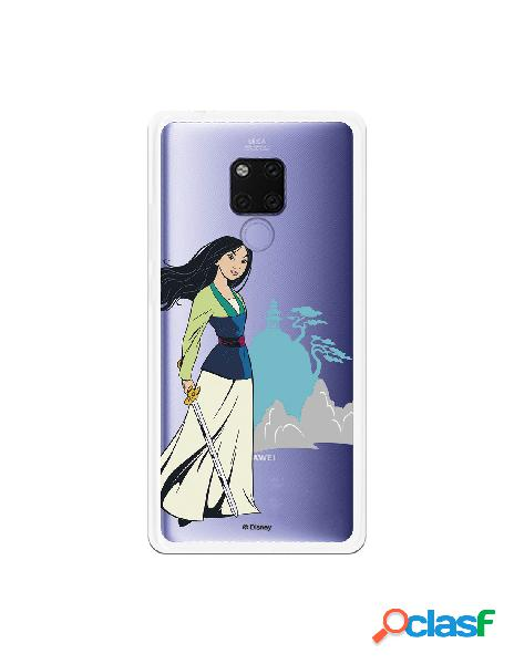 Funda para Huawei Mate 20 X Oficial de Disney Mulan Templo -