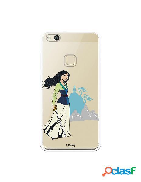 Funda para Huawei P10 Lite Oficial de Disney Mulan Templo -