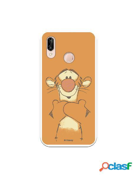 Funda para Huawei P20 Lite Oficial de Disney Tigger Sonrisas