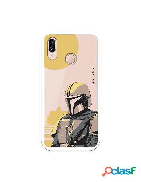 Funda para Huawei P20 Lite Oficial de Star Wars Mando