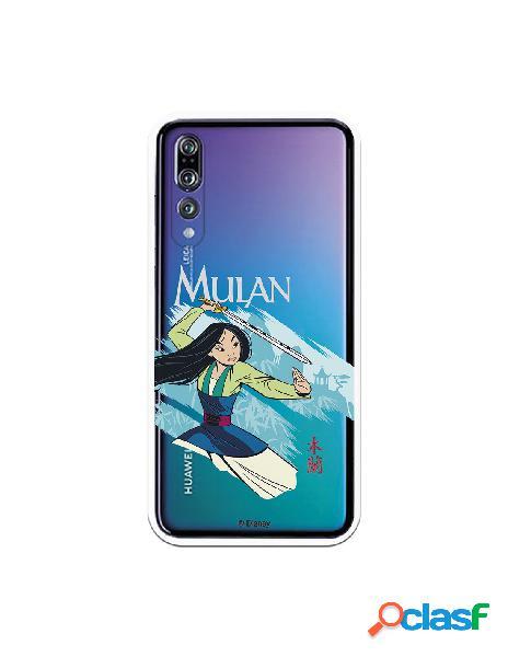 Funda para Huawei P20 Pro Oficial de Disney Mulan Tipografia