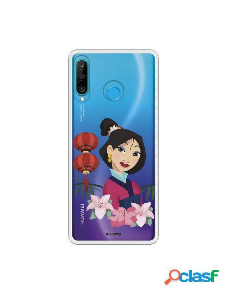 Funda para Huawei P30 Lite Oficial de Disney Mulan Rostro -