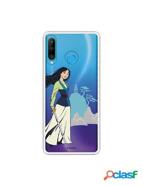 Funda para Huawei P30 Lite Oficial de Disney Mulan Templo -