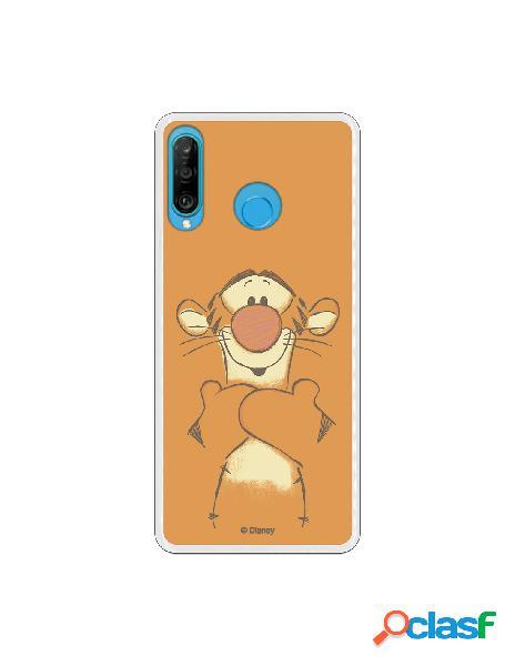 Funda para Huawei P30 Lite Oficial de Disney Tigger Sonrisas