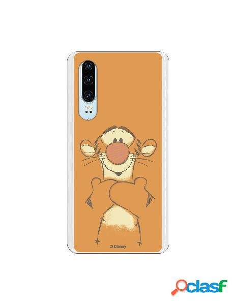 Funda para Huawei P30 Oficial de Disney Tigger Sonrisas -