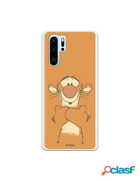 Funda para Huawei P30 Pro Oficial de Disney Tigger Sonrisas