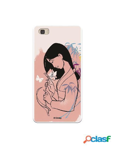 Funda para Huawei P8 Lite Oficial de Disney Mulan Flor de