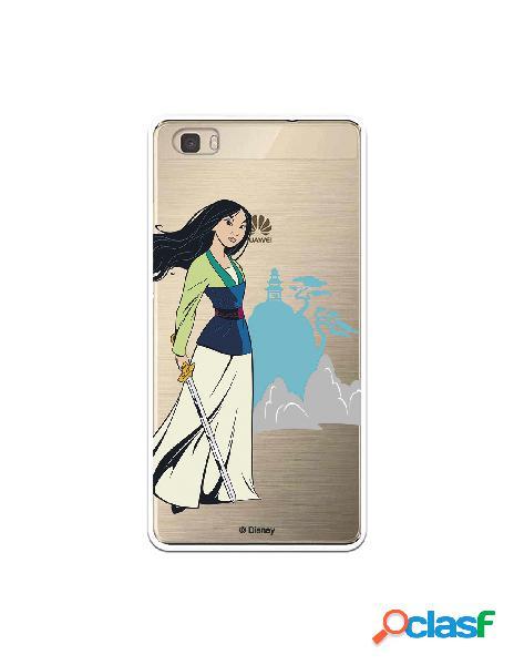Funda para Huawei P8 Lite Oficial de Disney Mulan Templo -