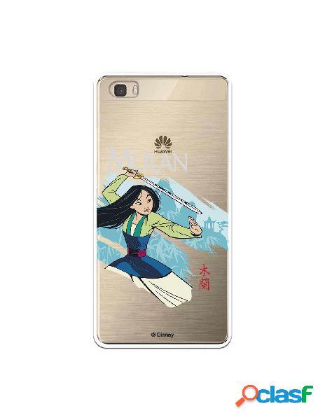Funda para Huawei P8 Lite Oficial de Disney Mulan Tipografia