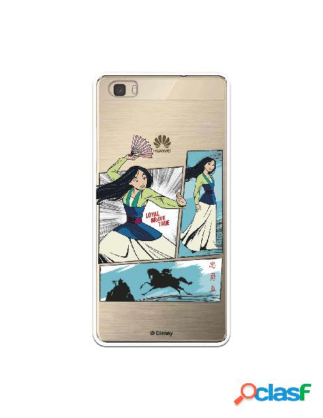 Funda para Huawei P8 Lite Oficial de Disney Mulan Viñetas -