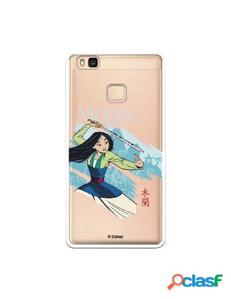 Funda para Huawei P9 Lite Oficial de Disney Mulan Tipografia