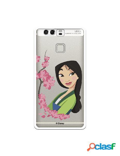 Funda para Huawei P9 Oficial de Disney Mulan Amapolas -