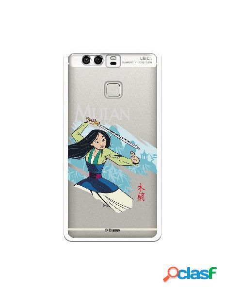 Funda para Huawei P9 Oficial de Disney Mulan Tipografia -