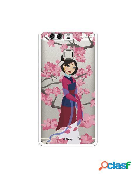 Funda para Huawei P9 Oficial de Disney Mulan Vestido Granate