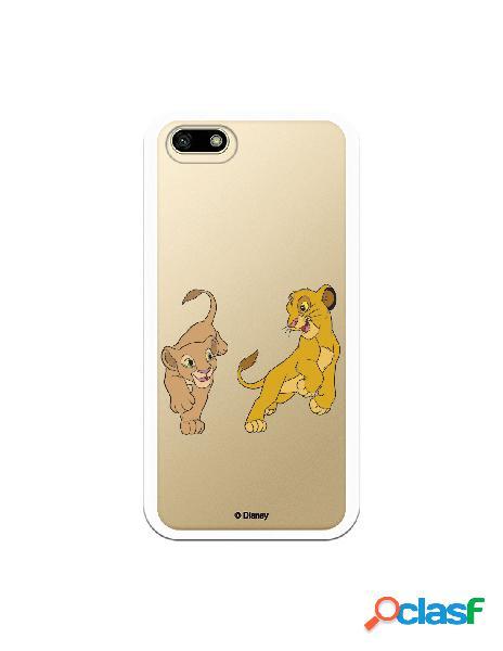 Funda para Huawei Y5 2018 Oficial de Disney Simba y Nala