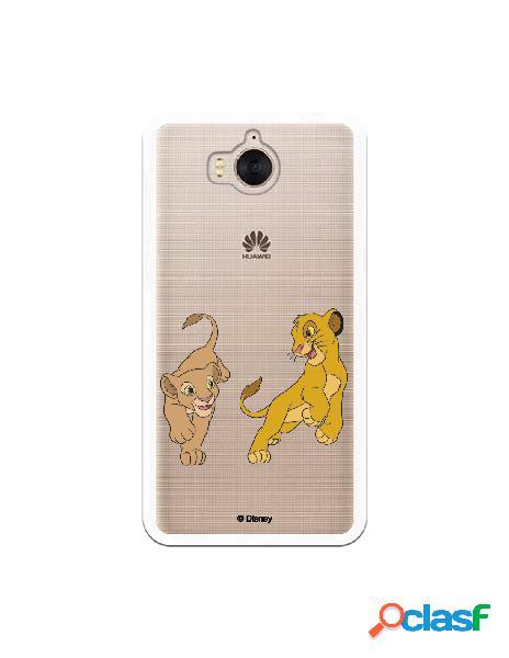 Funda para Huawei Y6 2017 Oficial de Disney Simba y Nala