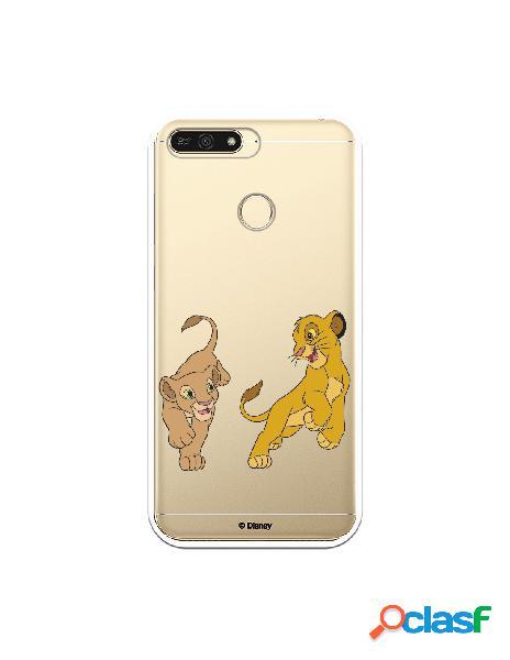 Funda para Huawei Y6 2018 Oficial de Disney Simba y Nala