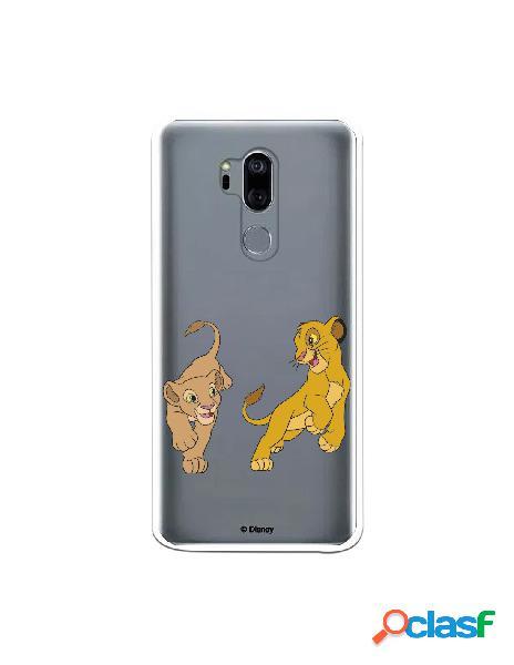 Funda para LG G7 Oficial de Disney Simba y Nala jugando - El