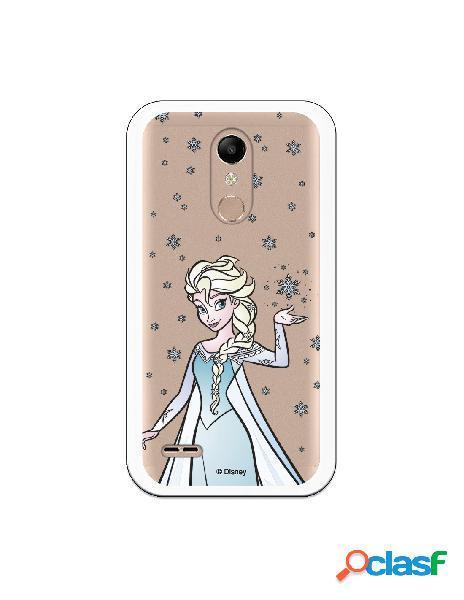 Funda para LG K10 2018 Oficial de Disney Elsa Transparente -