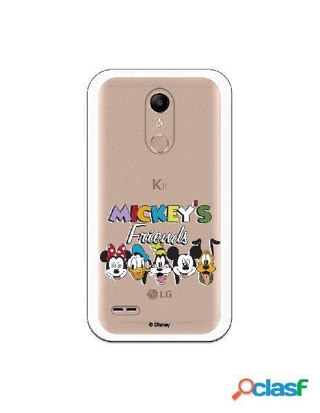 Funda para LG K10 2018 Oficial de Disney Mickey Friends