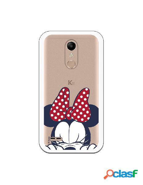 Funda para LG K10 2018 Oficial de Disney Minnie Cara -