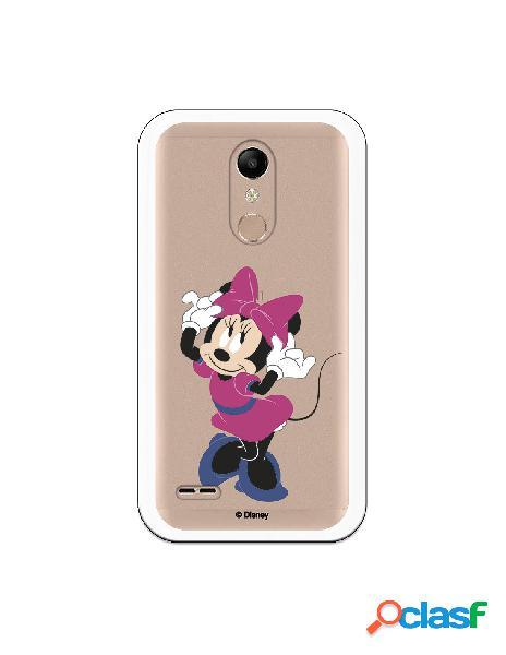 Funda para LG K10 2018 Oficial de Disney Minnie Rosa -