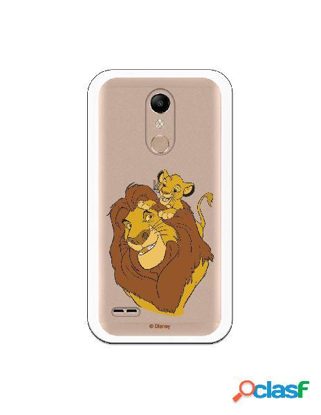 Funda para LG K10 2018 Oficial de Disney Mufasa y Simba