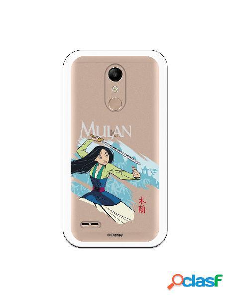 Funda para LG K10 2018 Oficial de Disney Mulan Tipografia -