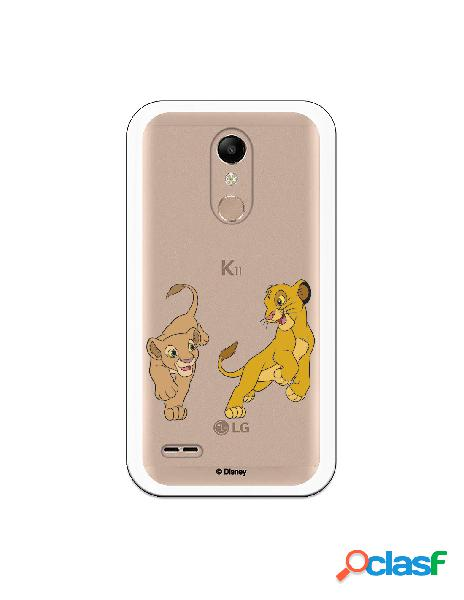 Funda para LG K10 2018 Oficial de Disney Simba y Nala