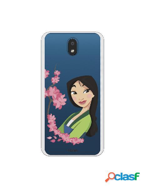 Funda para LG K30 Oficial de Disney Mulan Amapolas - Mulan