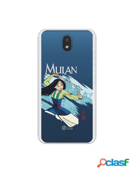 Funda para LG K30 Oficial de Disney Mulan Tipografia - Mulan