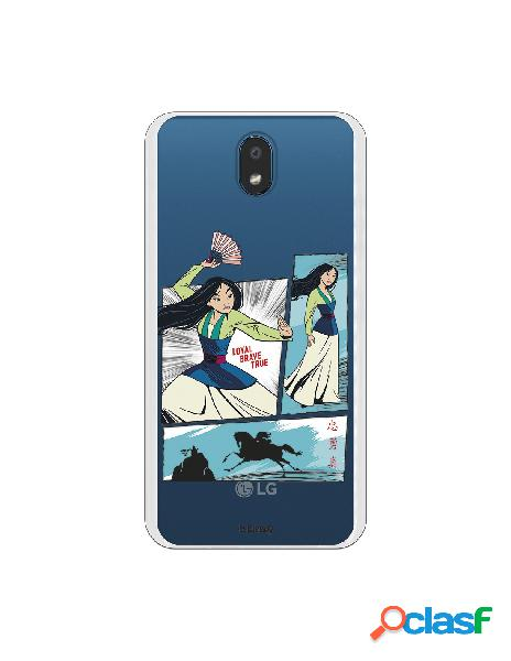Funda para LG K30 Oficial de Disney Mulan Viñetas - Mulan