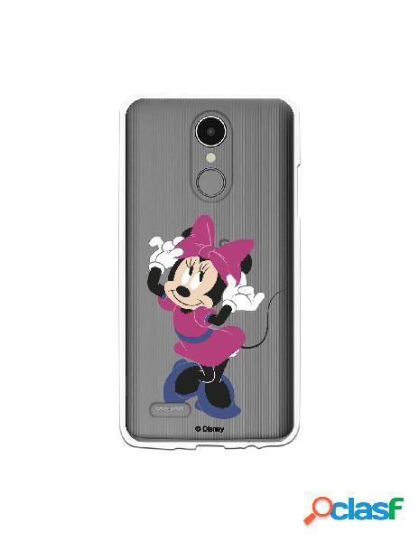 Funda para LG K4 2017 Oficial de Disney Minnie Rosa -