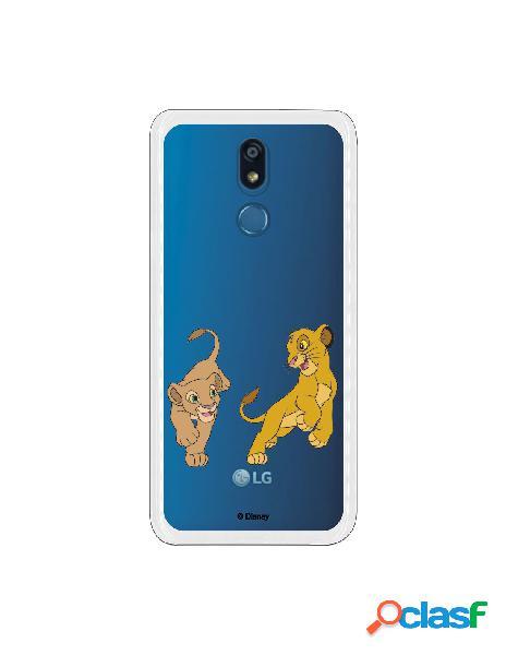 Funda para LG K40 Oficial de Disney Simba y Nala jugando -