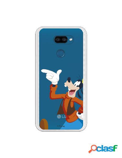 Funda para LG K40S Oficial de Disney Goofy Silueta