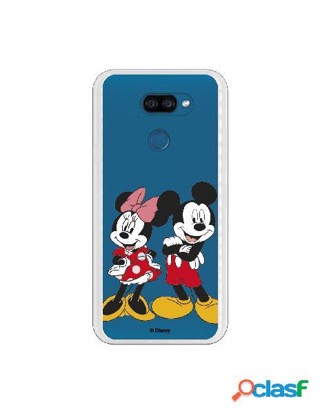 Funda para LG K40S Oficial de Disney Mickey y Minnie Posando