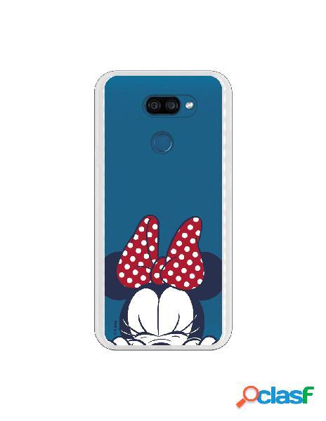 Funda para LG K40S Oficial de Disney Minnie Cara - Clásicos
