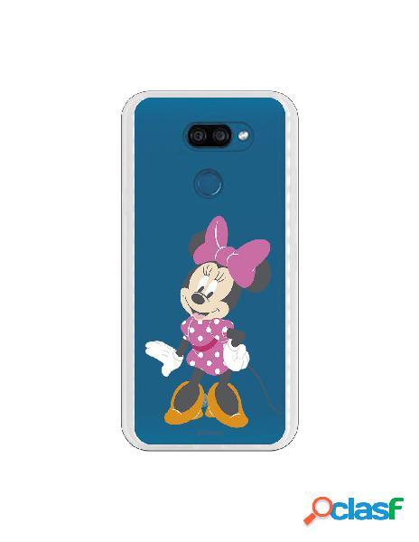 Funda para LG K40S Oficial de Disney Minnie Lazo Rosa