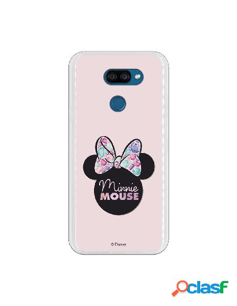 Funda para LG K40S Oficial de Disney Minnie Pink Shadow -