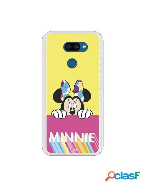 Funda para LG K40S Oficial de Disney Minnie Pink Yellow -