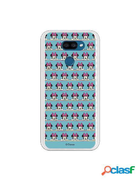 Funda para LG K40S Oficial de Disney Minnie Sweet blue -
