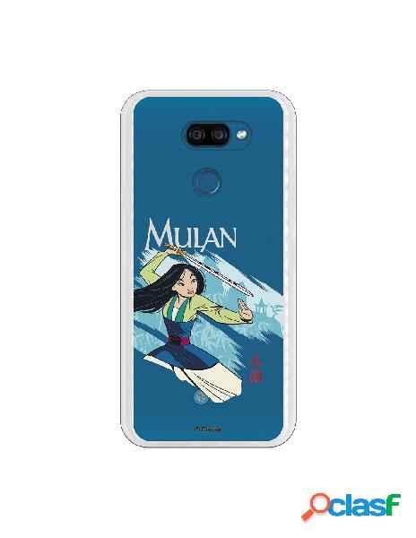 Funda para LG K40S Oficial de Disney Mulan Tipografia -