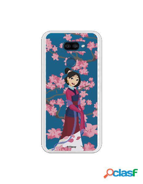 Funda para LG K40S Oficial de Disney Mulan Vestido Granate -