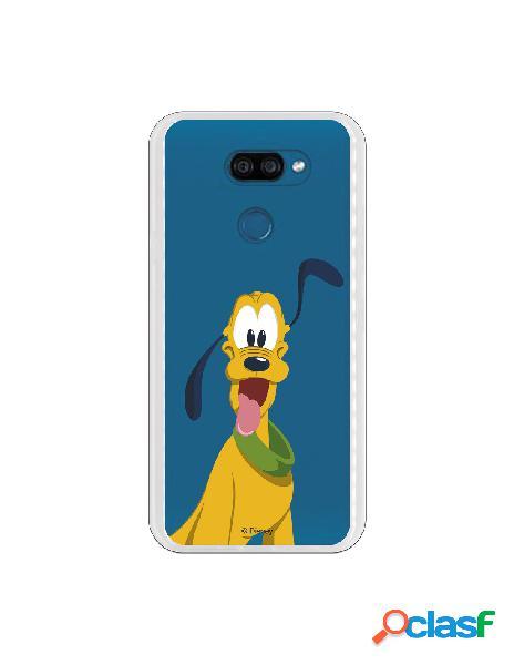 Funda para LG K40S Oficial de Disney Pluto Silueta