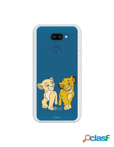 Funda para LG K40S Oficial de Disney Simba y Nala Mirada