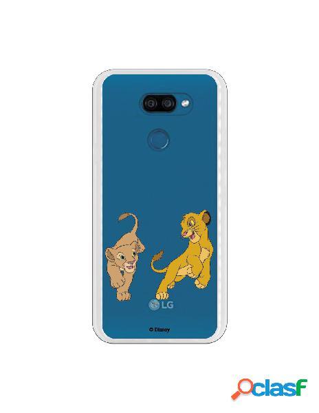 Funda para LG K40S Oficial de Disney Simba y Nala jugando -